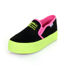 High Quality Fashion Women's Flats New Thick Sole Loafers Women Platform Canvas Shoes Espadrilles Woman Shoe