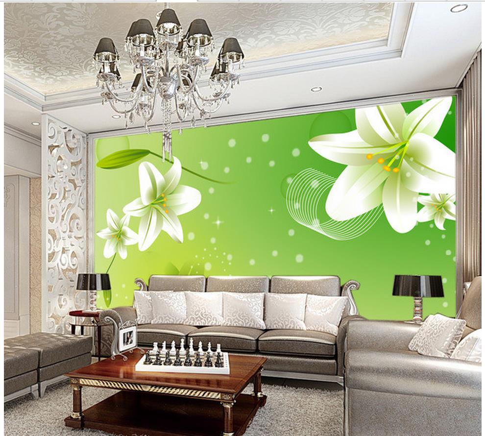 3d customized wallpaper mural 3d wallpaper lily simple for Mural 3d simple