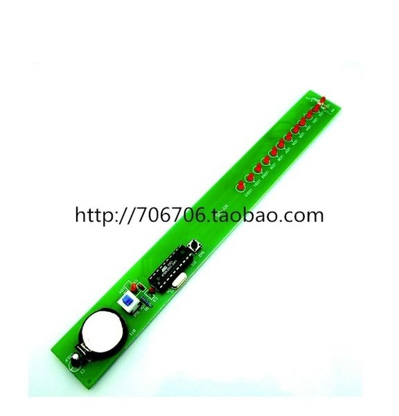 LED Shook Stick Kit AT89C2051 Microcontroller Electronic Production Suite