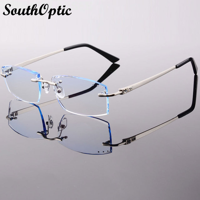 65fd00f07b Rimless Phantom Korean Female Optical Frame Including 1.61 Asphereic Tinted  or Clear EMI Lens titanyum gozluk