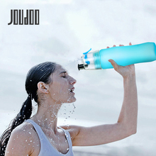 JOUDOO Creative Water Spray Bottle Sport Protein Shaker Cycling Gym Drink 700ml Squeeze Pump 35