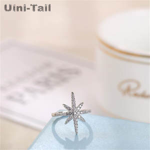 Uini-Tail Sea-Star-Ring Jewelry New-Products 925-Sterling-Silver Retro Creative Europe