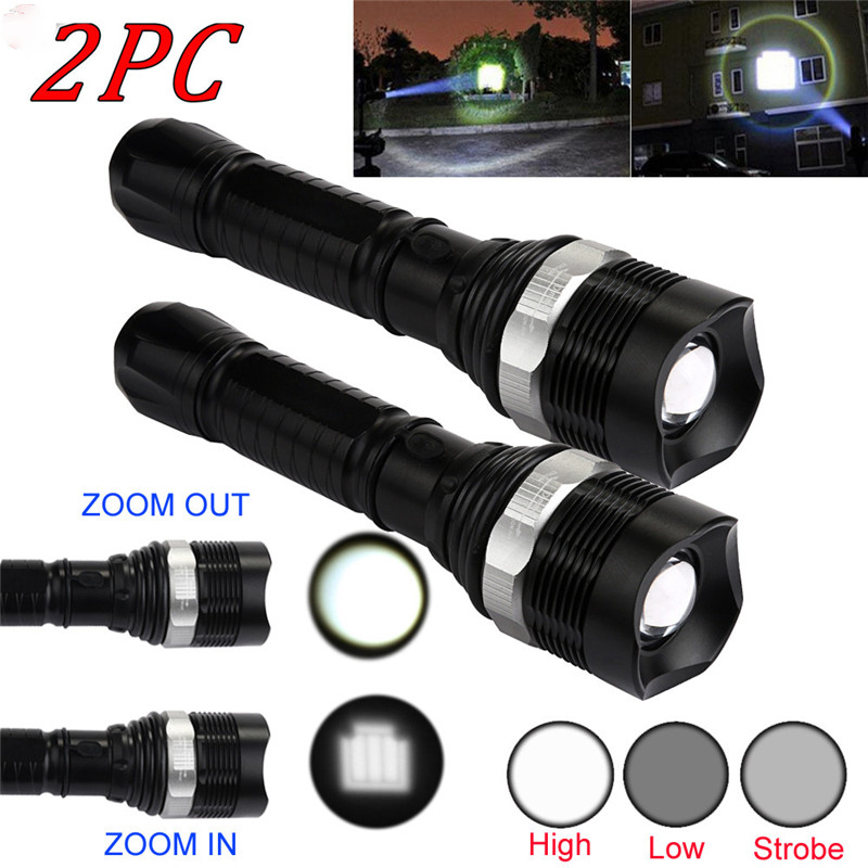 B2 Bicycle Light 2pcs Super Bright Q5 18650 3Modes Zoom Waterproof LED Flashlight Torch Lamp Camping & Hiking Wholesales&Retails