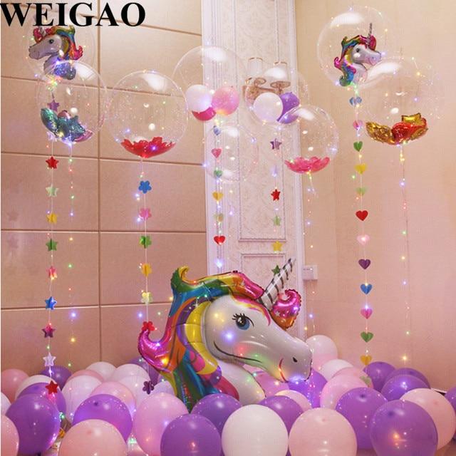 Weigao Birthday Led Balloons Cartoon Animal With Confetti Balloon