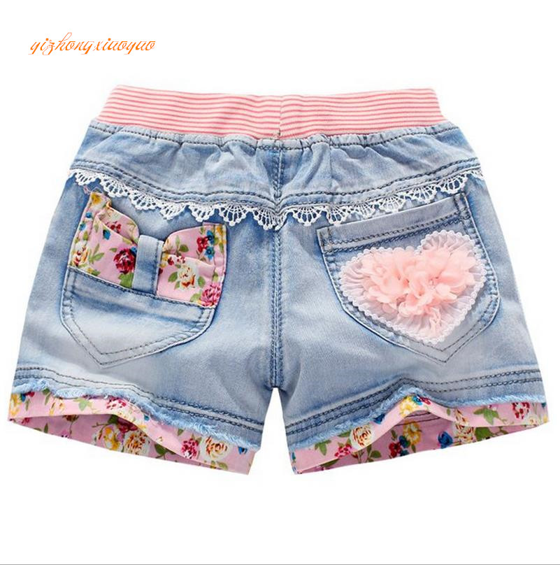 2016 sommer mode kinder denim shorts 100% baumwolle diamant sand short shorts für mädchen kinder casual jeans shorts 4-12years