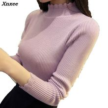 Xnxee 2018 New Spring Autumn Fashion Women sweater high elastic sexy slim Warm tight Bottoming elegant Knitted Pullovers