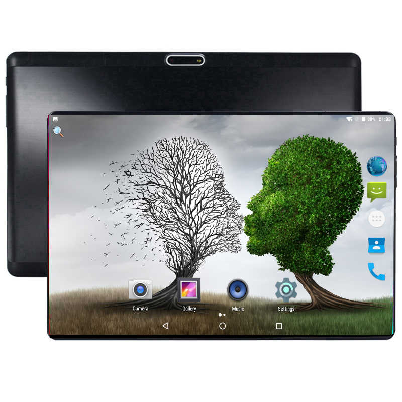 2019 Ultra Tipis 10 Inci Tablet PC 3G 4G LTE Octa Core 4 64 GB Dual Sim kartu Android 8.0 Gps Tablet PC 10 10.1 + Hadiah