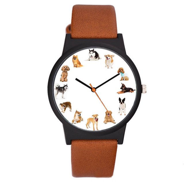 Casual Unisex Dogs Printed Watches