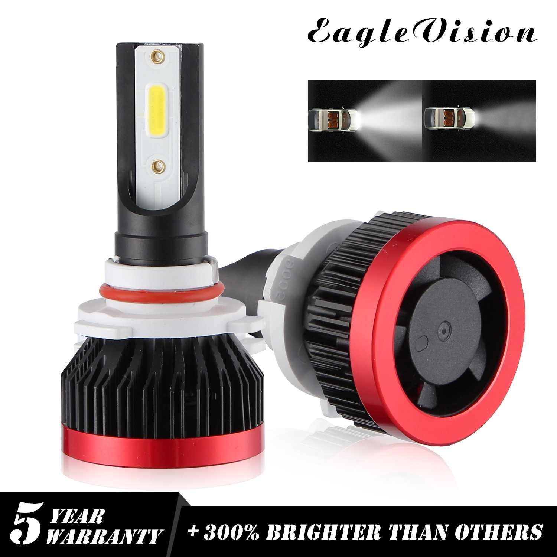 EV7 2PCS Mini 270000LM 1800W 9005 LED Headlight Bulbs  DOB Chip 6000K White  auto bulb running lights powerful beam