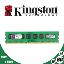 Used Kingston Desktop PC Memory RAM Memoria Module DDR2 800 667 MHz PC2 6400 8GB 4GB 2GB 1GB DDR3 1600 1333 PC3-10600 12800(China)