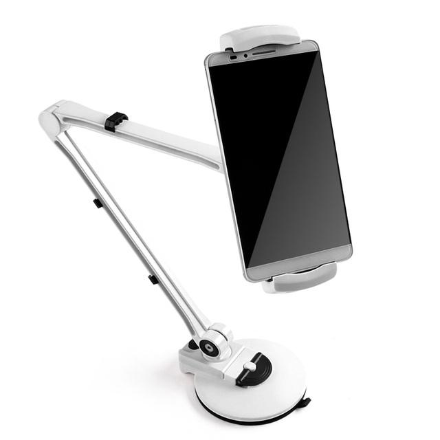 Tablet Soporte de cierre Fácil Titular, 360 Giratoria, Soporte acolchado, Brazo de Aluminio robusto para el Mini Aire ipad, Galaxy Tab para iphone 6 s/5S