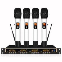 4 Channel Wireless Microphones System UHF Karaoke System Cordless 4 Handheld Mic for Stage Church Use for Party xtuga ew240 4 channel wireless microphones system uhf karaoke system cordless 4 handheld mic for stage church use for party