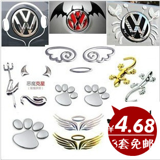 Aliexpresscom  Buy Small Angel Devil Car Sticker Crab - Car sign with wings