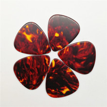 Free Shipping 100PCS Tortoise Shell Color Celluloid Guitar Picks Different Thickness Guitar Plectrum 3 ply celluloid and pvc guitar pickguard anti scatch plate guard for jazz bass guitar replacement red tortoise shell
