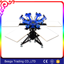 DJ442NT 4 Color 4 Station Screen Printing Equipment Silk Screen Press