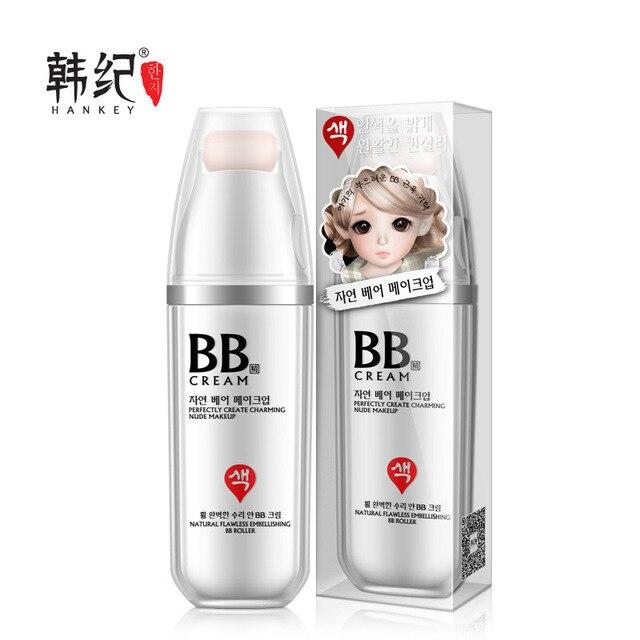 Iluminar Rolo BB Creme Facial Natural Nutritivo Hidratante Branqueamento Cremes BB Maquiagem Nude Corretivo Protetor Solar CC Creme