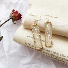 vintage Baroque Ethnic water drop crystal earrings shell big Transparent Luxury statement kristall korean