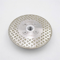 4 Electroplated Diamond Cutting Grinding Disc M14 Flange Diameter 100MM Saw Blade For Granite Marble Ceramic
