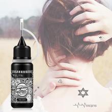 Waterproof Natural Black Juice Tattoo Paste For Temporary Body Art Painting Long Lasting Tattoo Juice Ink Body Art Cream 10ml