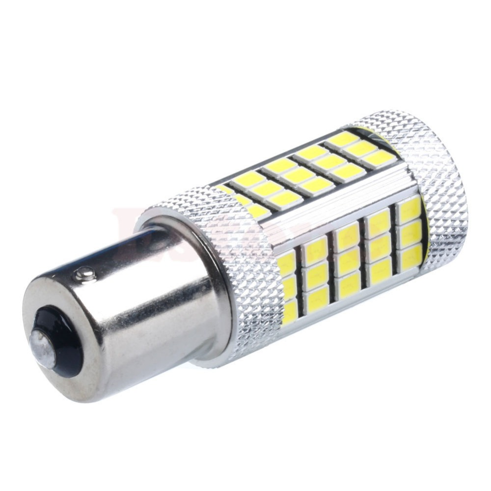 CYAN SOIL BAY P21W 1156 BA15S 66 SMD 7506 Brake Parking Reverse Light Fog Lamp Turn Signal Bulb Amber Red Blue Bright Than 33SMD