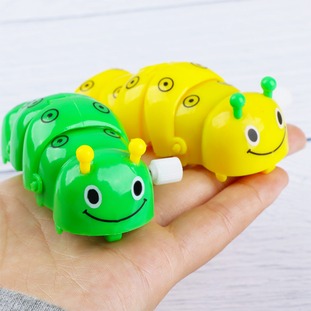 1pcs Cute Plastic Caterpillar Wind Up Toys Funny Clockwork Toys For Baby Kids Educational Toy Gifts Random Color