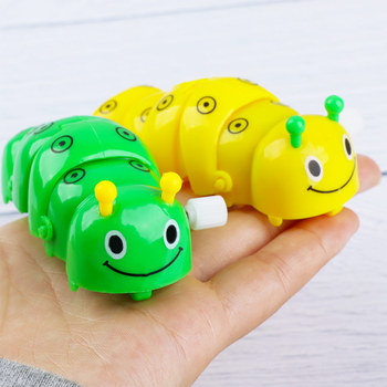 1pcs Cute Plastic Caterpillar Wind Up Toys Funny Clockwork Toys For Baby Kids Educational Toy Gifts Random Color недорого