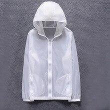 Новая мужская летняя куртка с защитой от ультрафиолета для спорта на открытом воздухе, быстросохнущая Солнцезащитная куртка с капюшоном для езды на велосипеде, путешествий, пальто, ветровка
