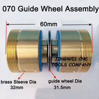 Good Quality 070 Guide Wheel Assembly With Nylon Sleeve Seat And NMB Bearings Dia 32mmx60mm For