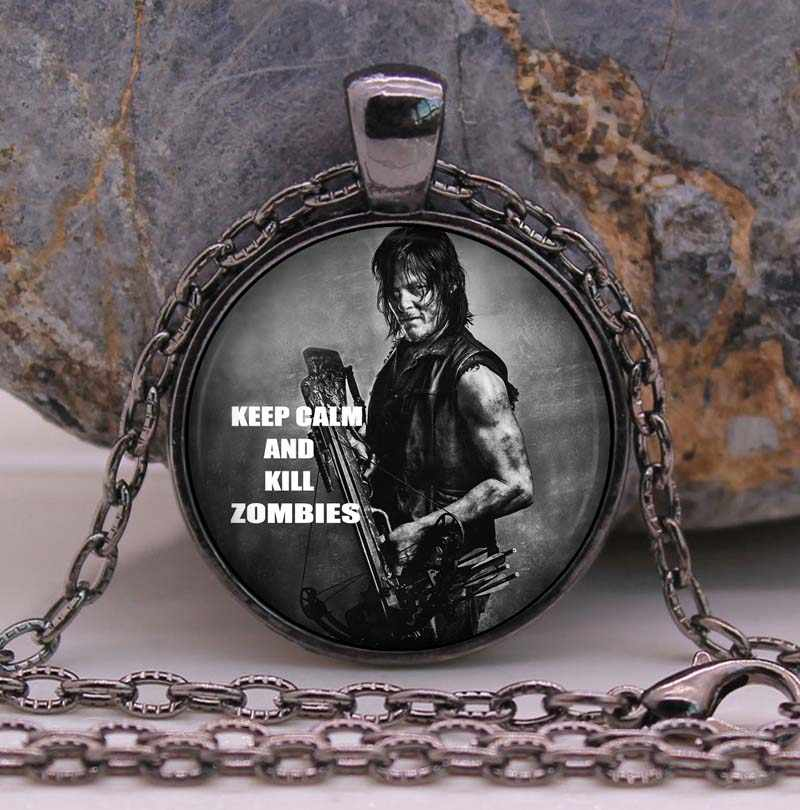 THE WALKING DEAD Necklace Pendant DARYL DIXON Crossbow Rick Grimes punk Gothic Glasses ancient Pendant Necklace gift Chain