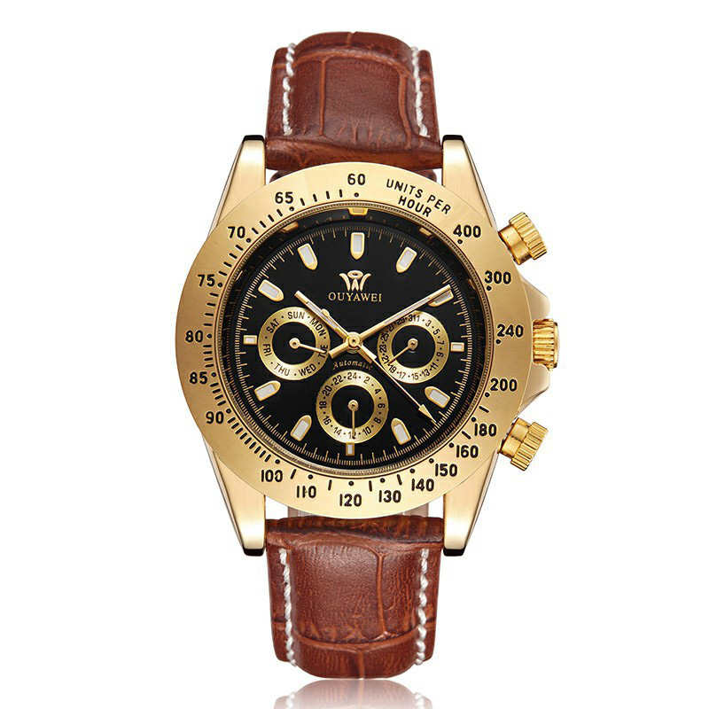 Mens Watches Top Brand Luxury Automatic Mechanical Watch Mens Fashion Gold Waterproof Brand Designer Watch Dropshipping New 2019 in Mechanical Watches from Watches