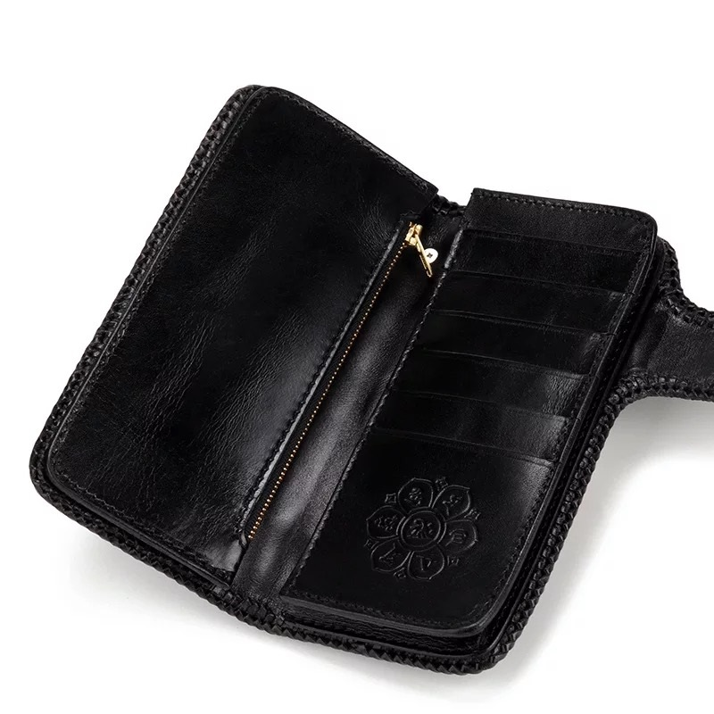 Handtasche Echtem Halter Stil Mann Pre 100 Tasche Kupplung Brieftasche Karte Münze Schwarz Exotische order Große Männer blau Haut Lange Alligator Leder Krokodil SxnUdC