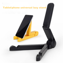 купить Universal Foldable Phone Holder Tablet Desktop Lazy Stand for iPad iPhone X 7 8 6 Tablet Mobile Phone Adjustable Bracket Mount по цене 157.07 рублей