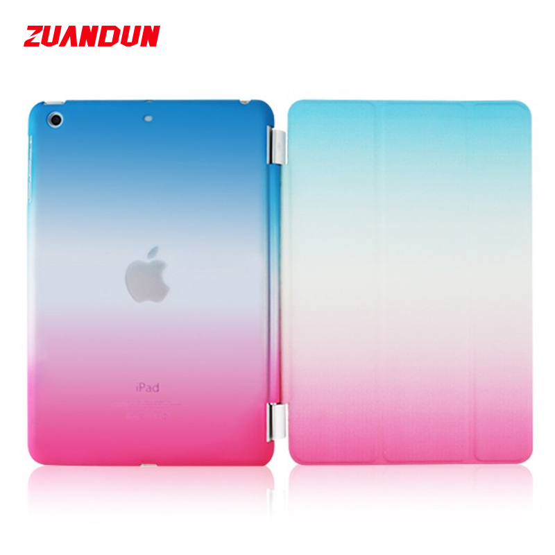 ZUANDUN Smart Flip Case For iPad Air Air 2 Mini 1 2 3 Magnetic PU Leather Case For iPad 2 3 4 Tablet Cases Wake Up /Sleep Cover for ipad mini 1 2 3 matte litchi soft pu artificial leather case magnetic sleep wake up flip cover case retina