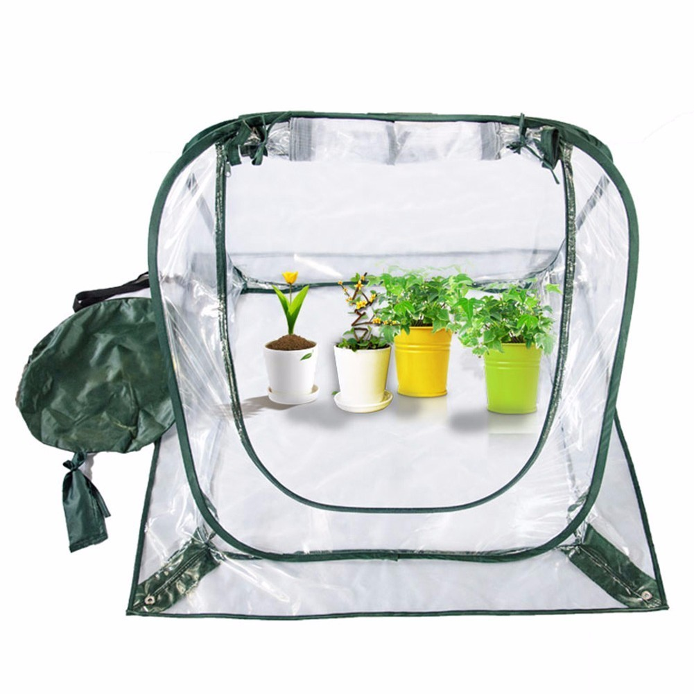 Portable Home Garden Gas Permeable Greenhouse 2 3 4 Tier Folding Balcony Flower Warm Room Plants Shield Cold Proof Garden Cover