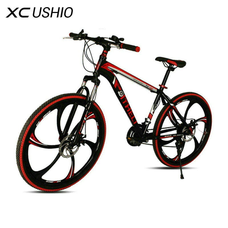 Mountain Bike 21 Speed 26 Inch Bicycle Double Disc Brake One Wheel Variable Speed Bicycle Carbon Steel MTB Bike Cycling Bicycle ms bicycle 30 mountain bike super lightweight carbon fibre speed male 27 speed brake oil 26 and29 mountain bike carbon fiber