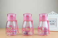 350ml Hello Kitty Water Bottle Fruit Juice Tea Milk Cups Portable Sports Camping Cycling PC Plastic