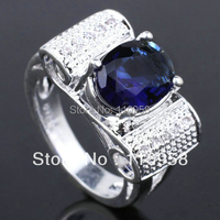 Special Design Authentic 925 Sterling Silver Ring Fashion Jewelry 8x10mm Stone R063 Sz 6 7 8 9 Valentine's Day Gift