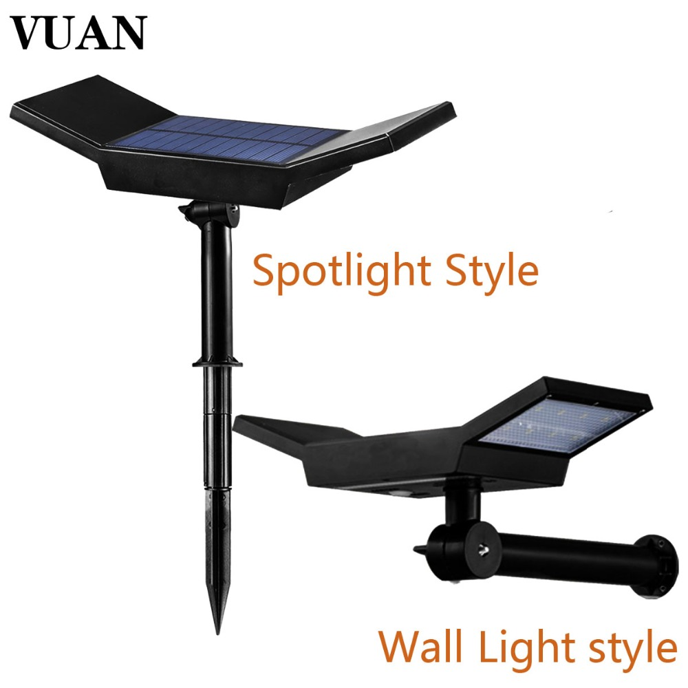Upgrated Solar Spotlight Waterproof IP65 Outdoor Lighting LED Solar Light Garden Lawn Lamp Landscape Wall Lights Auto On/Off 2 in 1 solar powered led spotlight super bright outdoor lamp 8 led waterproof type adjustable auto on auto off security light