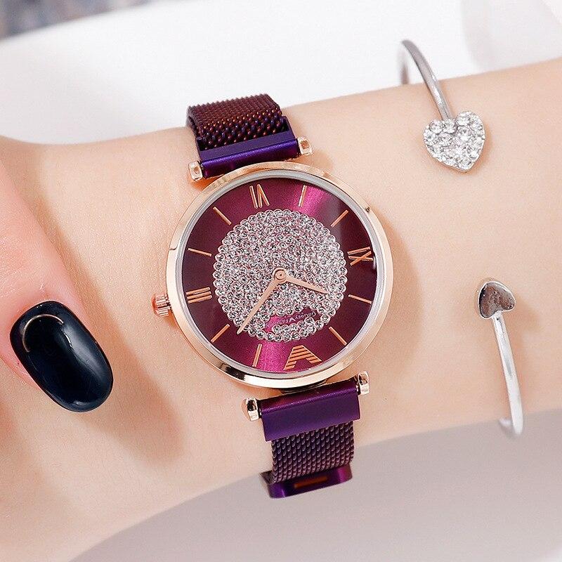 Luxury Women Bracelet Watches 2019 Fashion Minimalism Diamond Watch Magnetic Mesh Female Wristwatch Relogio Feminino Reloj Mujer