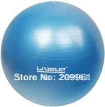 LIVEUP high quality pvc 55cm yoga ball gym exercise ball indoor Fitness Body Building