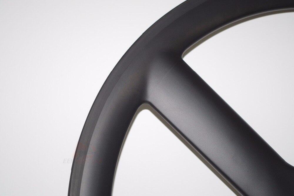 700C Tri Spokes Carbon Wheels Front Wheels Road Bike 3 Spokes Time Trial//Triathl