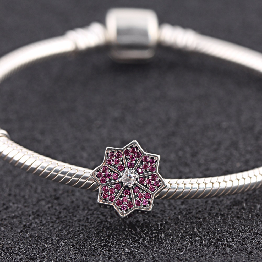 Weihnachtsstern Original Us 13 97 Endless Story Original 925 Sterling Silver Charm Poinsettia Cz Beads Fit Pandora Bracelet Jewelry Making In Beads From Jewelry