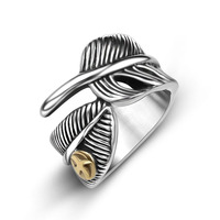 Takahashi Goro Feather Ring Opening For Male And Female Fashion Personality On Behalf Of SA935 Titanium