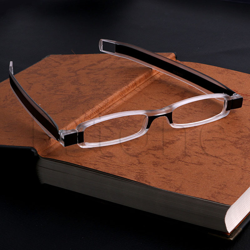 Enduring 360° Rotation Folding Reading Glasses Eyeglass Diopters Chic plywood