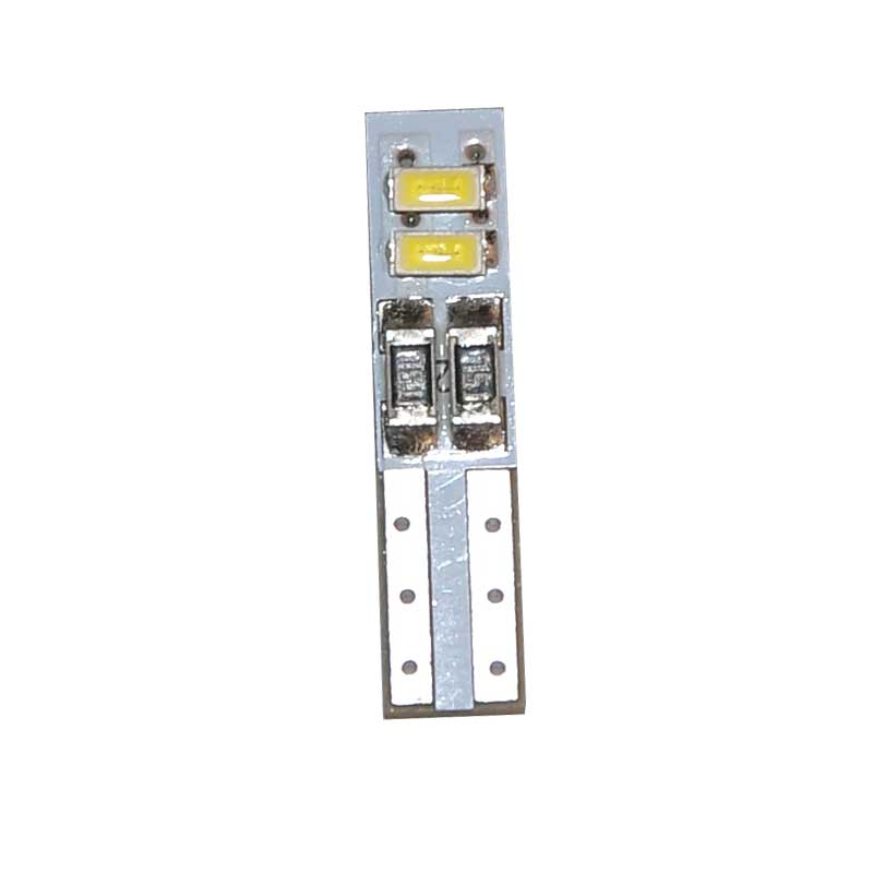 10Pcs Car LED Light Bulbs T5 4 SMD 3014 Auto Signal Lamp Instrument Lights Warm White 3000K White 6000K DC 12V Car Styling in Signal Lamp from Automobiles Motorcycles