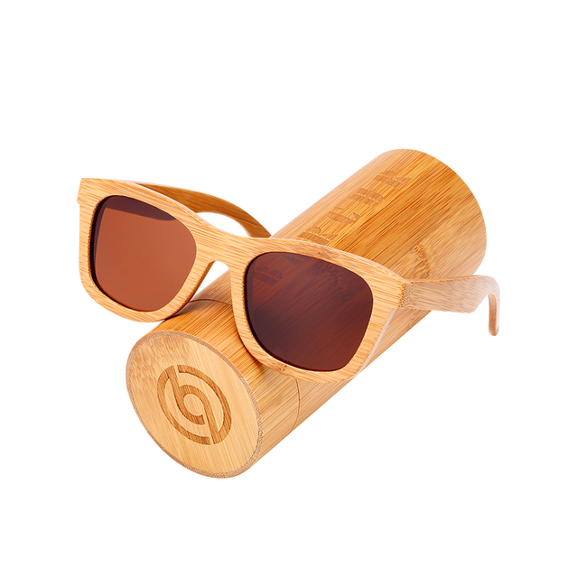 79358993373 BARCUR Bamboo Wooden Sunglasses Polarized Bamboo Brand Sun glasses Vintage  Wood Case Beach Sunglasses for Driving gafas de sol