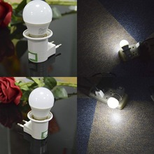 E27 Night Lamp EU Plug Light 220V 5W Led Night Lights with switch socket E27 holder