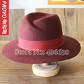 Winter Fashion Wide Brim Wool Felt Fedora Hats For Women Chapeu Floppy Hat Ladies Church Hat Free Shipping PWFR-076