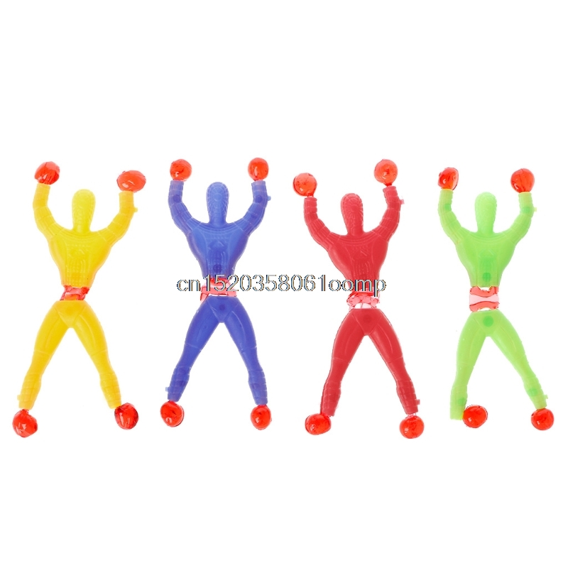 Sticky Elastic Spider Man Fun Stretchy Kids Toy Wall Climbing Super Hero Figure #0222#