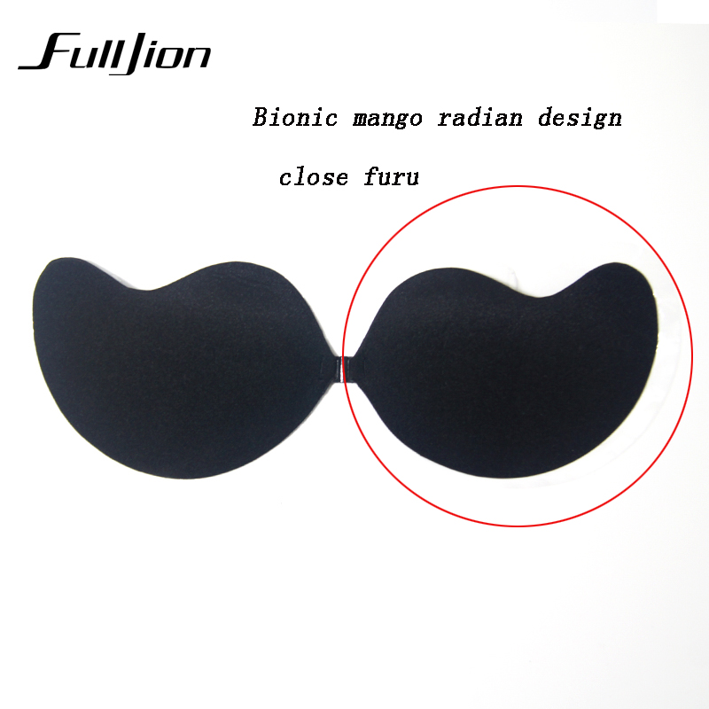 Fulljion New Sexy bra Women Self Adhesive Strapless Bandage Stick Gel Silicone Push Up Invisible Bra seamless Intimates bras 12